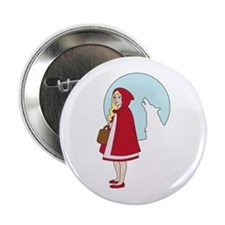 "Red and The Wolf 2.25"" Button"