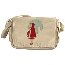 Red and The Wolf Messenger Bag