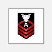 """Navy Chief Storekeeper Square Sticker 3"""" x 3"""""""