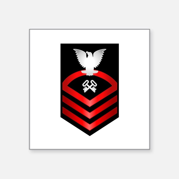 "Navy Chief Storekeeper Square Sticker 3"" x 3"""