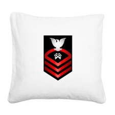 Navy Chief Storekeeper Square Canvas Pillow