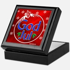 """God Jul"" Holiday Keepsake Box"