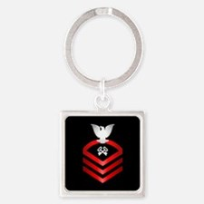Navy Chief Storekeeper Square Keychain