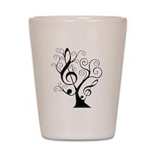music tree Shot Glass