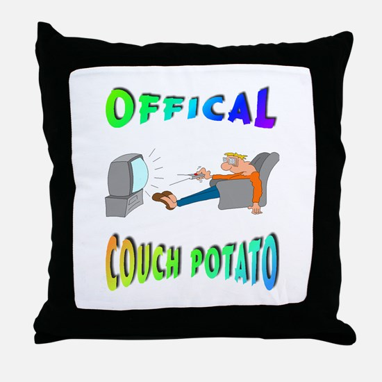 OFFICAL COUCH POTATO! Throw Pillow