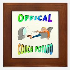 OFFICAL COUCH POTATO! Framed Tile