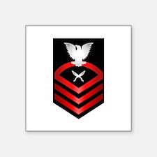"Navy Chief Yeoman Square Sticker 3"" x 3"""