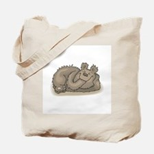 Silly Little Sleeping Bear Tote Bag