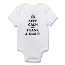 Keep Calm And Thank A Nurse Infant Bodysuit