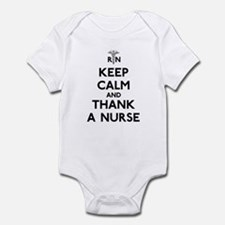 Keep Calm And Thank A Nurse Infant Bodysuit