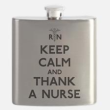 Keep Calm And Thank A Nurse Flask