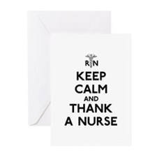 Keep Calm And Thank A Nurse Greeting Cards (Pk of