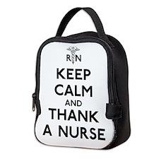Keep Calm And Thank A Nurse Neoprene Lunch Bag