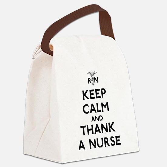 Keep Calm And Thank A Nurse Canvas Lunch Bag