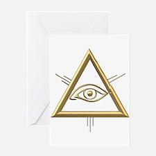 Eye of God/Trinity Greeting Card