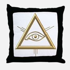 Eye of God/Trinity Throw Pillow
