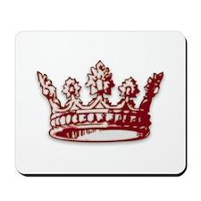 Medieval Red Crown Mousepad