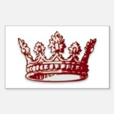 Medieval Red Crown Rectangle Decal
