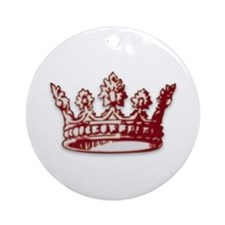 Medieval Red Crown Ornament (Round)