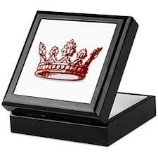 Medieval Red Crown Keepsake Box