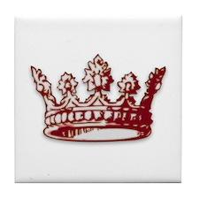 Medieval Red Crown Tile Coaster