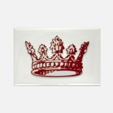 Medieval Red Crown Rectangle Magnet