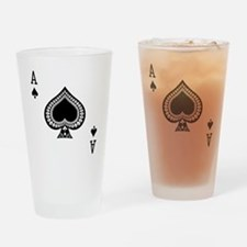 Ace of Spades Drinking Glass