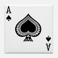Ace of Spades Tile Coaster