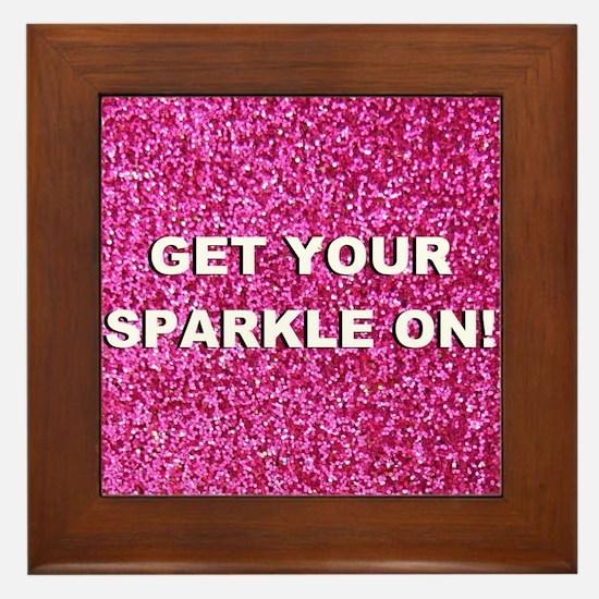 Get your sparkle on (faux glitter) Framed Tile