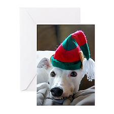 Greyhound Elf Greeting Cards (Pk of 20)