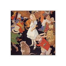 """Alice in Wonderland 1923 il Square Sticker 3"""" x 3"""""""