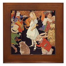 Alice in Wonderland 1923 illustration Framed Tile