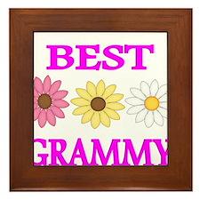BEST GRAMMY WITH FLOWERS 2 Framed Tile