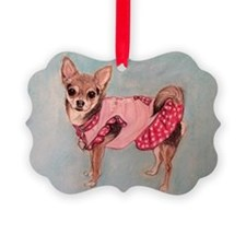polka dot chihuahua Ornament