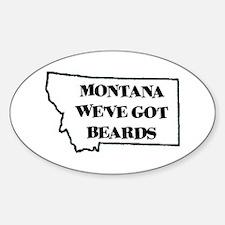 Montana Beards Oval Decal