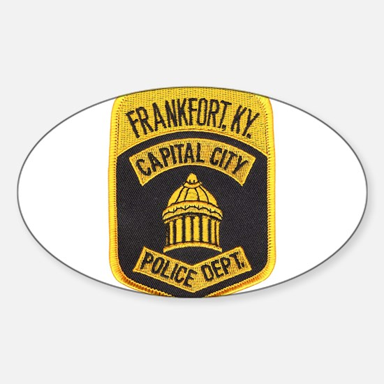 Frankfort Police Oval Decal