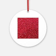 Red faux glitter Round Ornament