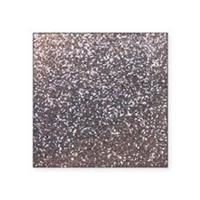 "Faux silver glitter Square Sticker 3"" x 3"""