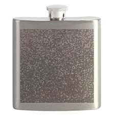 Faux silver glitter Flask
