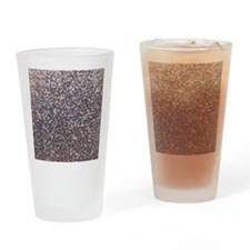 Faux silver glitter Drinking Glass
