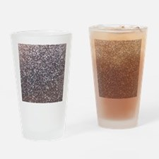 Faux silver glitter Drinking Glass