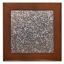 Faux silver glitter Framed Tile