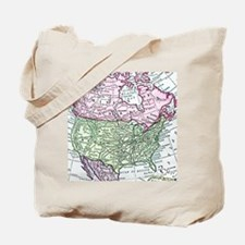 Vintage map of North America Tote Bag
