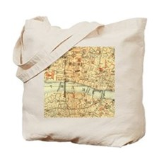 Vintage map of London Tote Bag