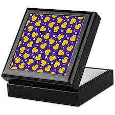 Purple rubber ducky pattern Keepsake Box