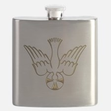 Golden Descent of The Holy Spirit Symbol Flask