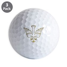 Golden Descent of The Holy Spirit Symbol Golf Ball