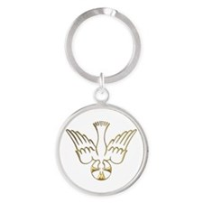 Golden Descent of The Holy Spirit Symbol Round Key