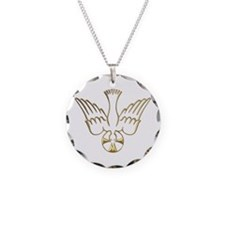 Golden Descent of The Holy Spirit Symbol Necklace