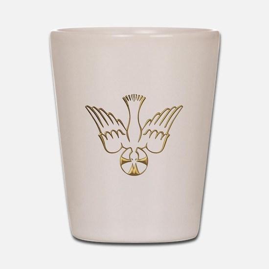 Golden Descent of The Holy Spirit Symbol Shot Glas
